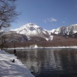 上高地 大正池 冬期上高地