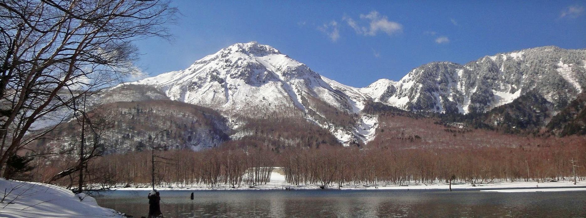 冬期上高地    大正池 焼岳
